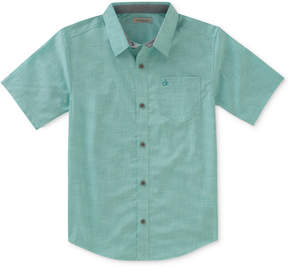 Calvin Klein Check-Print Chambray Shirt, Big Boys (8-20)