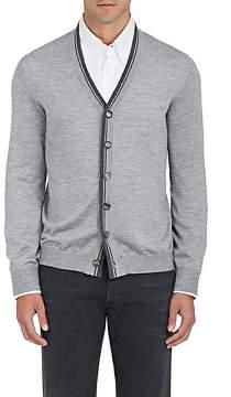 Brunello Cucinelli Men's Tipped Cashmere-Silk Cardigan