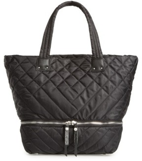 Sam Edelman Arianna Quilted Nylon Tote - Black