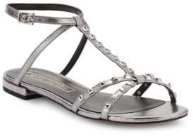 Marc Jacobs Ana Studded Metallic Leather Sandals