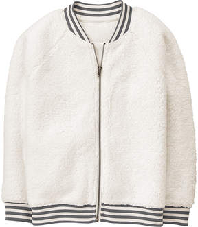 Gymboree White & Black Stripe Bomber Jacket - Toddler & Girls
