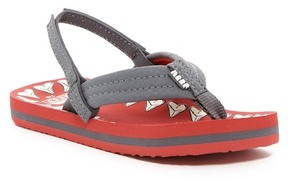 Reef Ahi Glow Red Shark Thong Sandal (Toddler, Little Kid, & Big Kid)