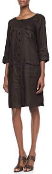 Go Silk Linen Pocket-Front Shirtdress