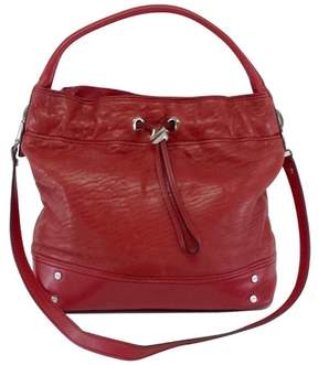 Milly Red Leather Shoulder Bag