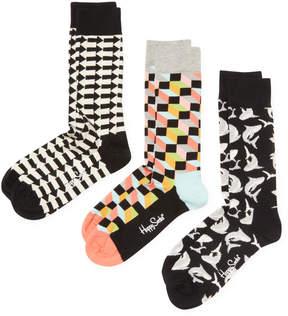 Happy Socks Men's Sharks & Arrow Socks (3 PK) - Size 10-13