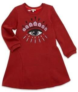 Kenzo Toddler's, Little Girl's & Girl's Sweater A-Line Eye Dress