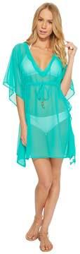 Echo Solid Silky Butterfly Swim Cover-Up Women's Swimwear