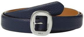Lauren Ralph Lauren 1 Basic Rounded Centerbar Pebble Belt Women's Belts