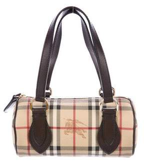 Burberry Haymarket Check Barrel Bag