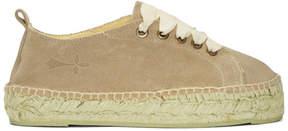Manebi Taupe Hamptons Double Sneaker Espadrilles