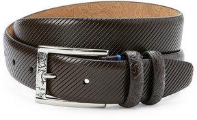 Robert Graham Black Martin Textured Belt