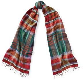 Polo Ralph Lauren | Madras Cotton Scarf | Red multi