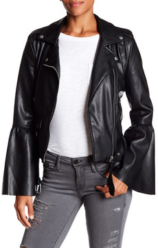 Bagatelle Bell Sleeve Faux Leather Jacket