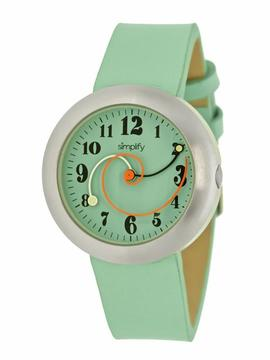 Simplify The 2700 Collection SIM2705 Unisex Stainless Steel Watch with Leather Strap