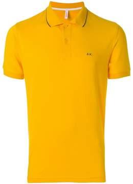 Sun 68 logo embroidered polo shirt