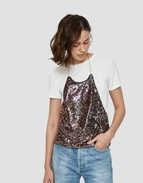 Which We Want Paris Sequin Halter Top