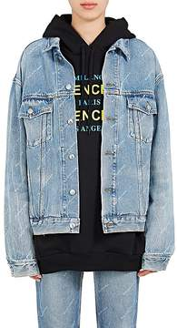 Balenciaga Women's Logo-Print Denim Jacket
