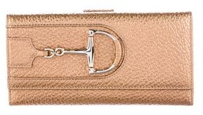 Gucci Leather Hasler Horsebit Wallet - GOLD - STYLE