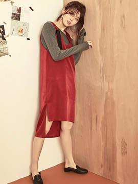 Blank Simple Silky Dress-rd