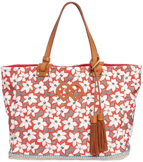 Floral Printed Cotton Canvas Tote