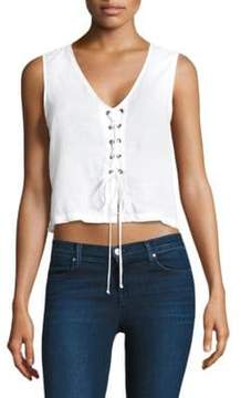 Bella Dahl Lace-Up Crop Tank