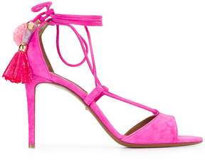 Dolce & Gabbana pom pom tassel sandals