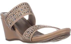 Impo Verrill Mule Wedge Sandals, Natural.