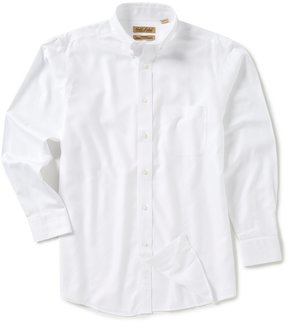 Roundtree & Yorke Gold Label Big & Tall Non-Iron Long-Sleeve Solid Dobby Sportshirt