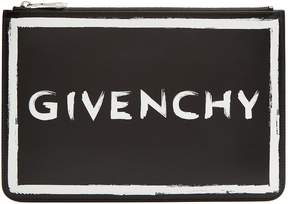Givenchy Graffiti logo leather pouch