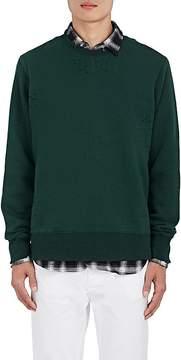 Ovadia & Sons Men's Distressed Cotton-Blend Fleece Sweatshirt