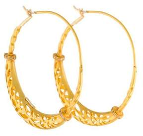 Amrapali Diamond Basket Hoop Earrings