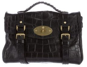 Mulberry Embossed Leather Alexa Bag