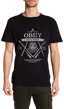 Obey Last Gang Graphic Crew Neck Tee