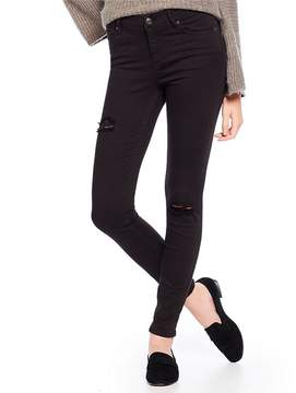 Armani Exchange Ripped Knee Skinny Jeans