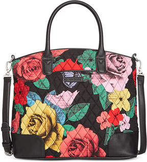 Vera Bradley Signature Trimmed Satchel - AUTUMN LEAVES WITH CHOCOLATE - STYLE