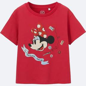 Uniqlo Girl's Disney (minnie Mouse Loves Dots) Graphic T-Shirt