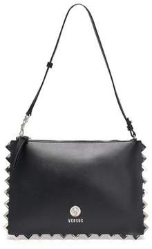 Versace Embellished Leather Shoulder Bag
