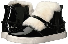 Manila Grace Faux Fur Front High Top Sneakers Women's Lace up casual Shoes