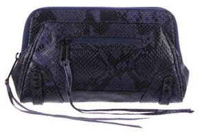 Rebecca Minkoff Embossed Leather Clutch - BLUE - STYLE