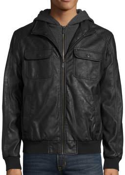 i jeans by Buffalo Ibuffalo Faux Hooded Jacket