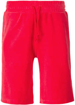 Sergio Tacchini velvet contrast stripe shorts