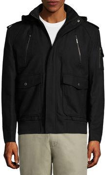 Asstd National Brand Wool Bomber Jckt Boucle Bomber Jacket