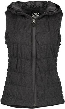 Blanc Noir Charcoal Hooded Puffer Vest