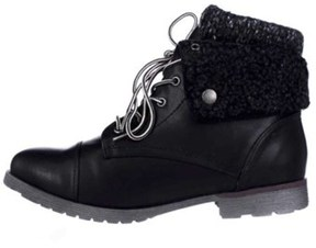 Rock & Candy Womens Spraypaint-h Closed Toe Ankle Fashion Boots, Black, Size 8.5.