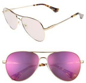 Sonix Women's Lodi 61Mm Mirrored Aviator Sunglasses - Gold Wire/ Lilac Mirror