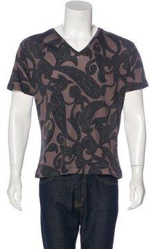 Dries Van Noten Paisley V-Neck T-Shirt w/ Tags