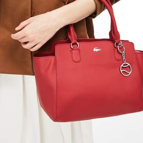 Lacoste Women's Daily Classic Gusseted Coated Pique Canvas Tote Bag