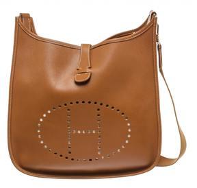 Hermes Evelyne leather satchel - CAMEL - STYLE