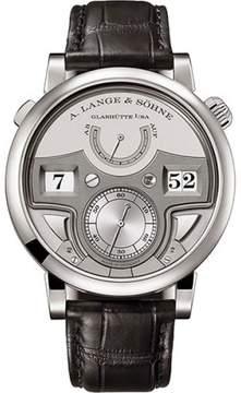 A. Lange & Söhne A. Lange and Sohne Zeitwerk 147.025 Platinum / Leather 44.2mm Mens Watch