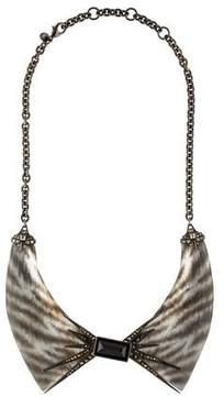 Alexis Bittar Santa Fe Deco Zebra Collar Necklace
